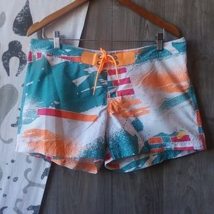 Nike | Abstract Pattern Lace Up Board Shorts Sz. M